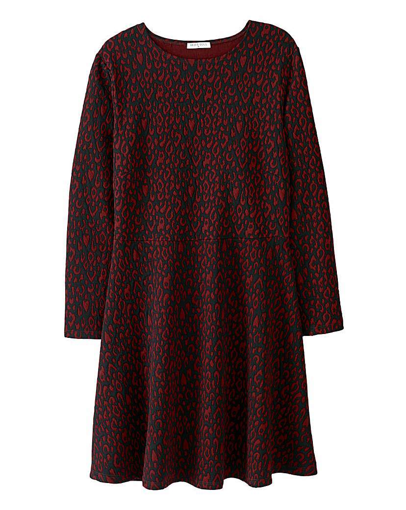 Brave Soul Skater Dress - style: tunic; length: mid thigh; neckline: round neck; pattern: plain; predominant colour: true red; occasions: casual, evening, creative work; fit: soft a-line; fibres: polyester/polyamide - 100%; sleeve length: short sleeve; sleeve style: standard; pattern type: fabric; texture group: jersey - stretchy/drapey; season: a/w 2015; wardrobe: highlight