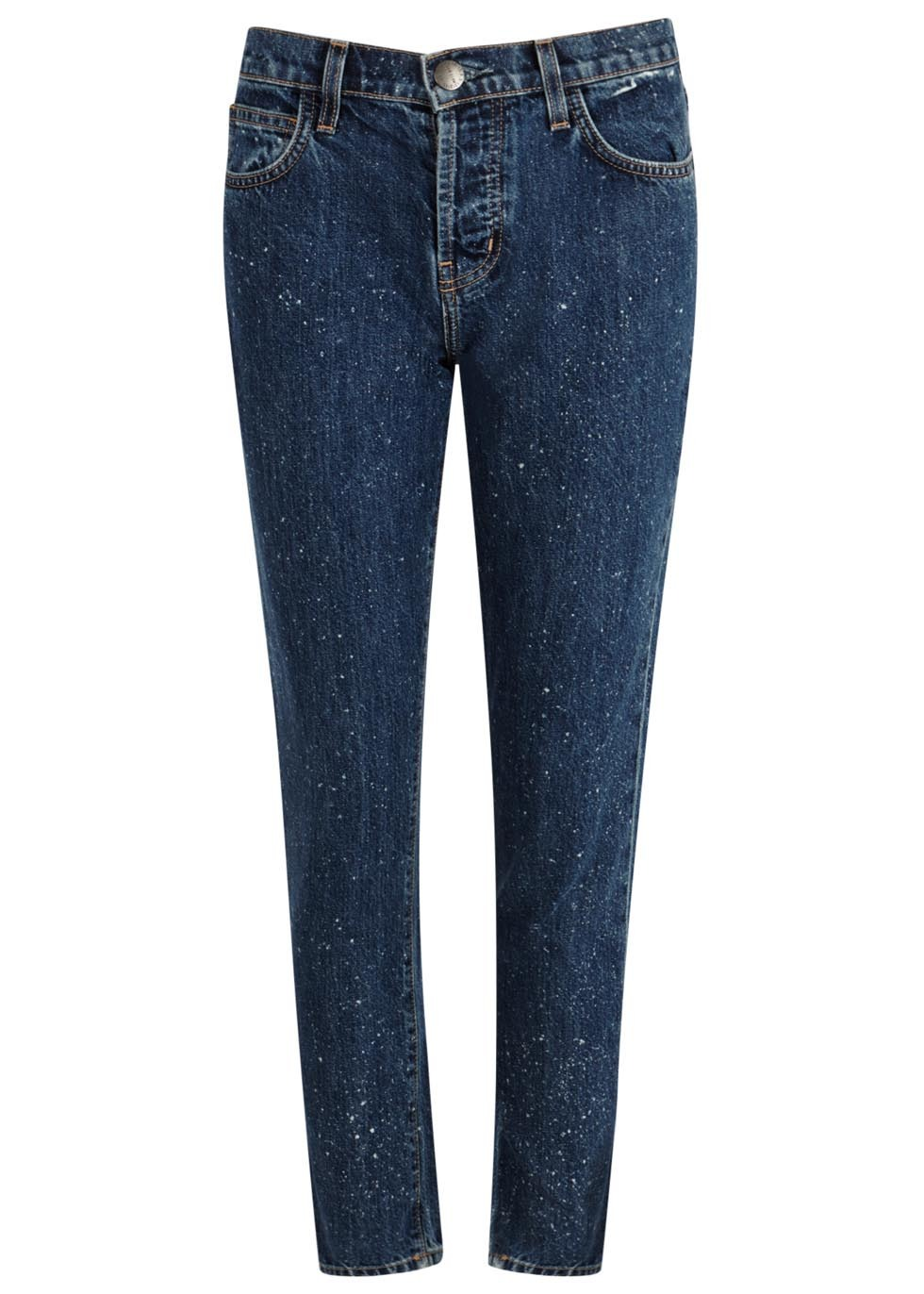 The Vintage Blue Straight Leg Jeans Size W30 - style: straight leg; length: standard; pattern: plain; waist: high rise; predominant colour: navy; occasions: casual, creative work; fibres: cotton - stretch; jeans detail: dark wash; texture group: denim; pattern type: fabric; season: a/w 2015; wardrobe: basic