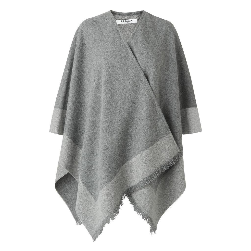 Lili Cashmere Blanket Scarf Wrap Multi Grey - secondary colour: mid grey; predominant colour: light grey; occasions: casual, creative work; style: wrap; size: large; material: knits; pattern: plain; season: a/w 2015