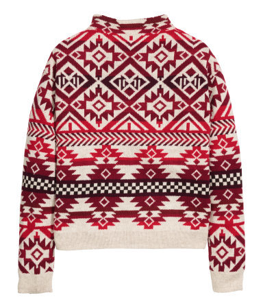 Jacquard Knit Jumper - trends: christmas jumpers; season: a/w 2015