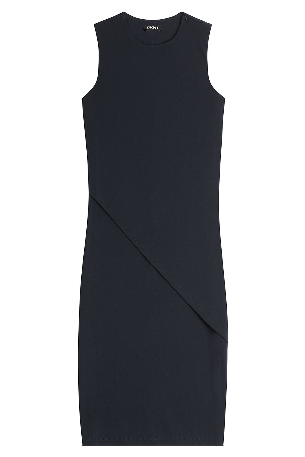 Tailored Dress - style: shift; fit: tailored/fitted; pattern: plain; sleeve style: sleeveless; predominant colour: navy; occasions: work, creative work; length: just above the knee; neckline: crew; sleeve length: sleeveless; pattern type: fabric; texture group: other - light to midweight; season: a/w 2015; wardrobe: investment