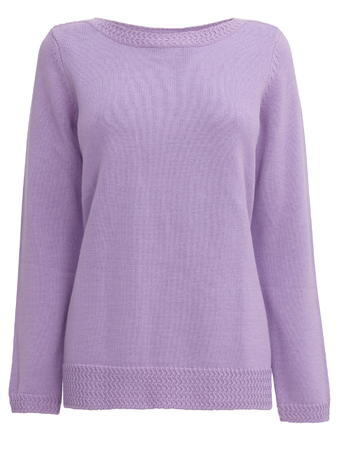 Womens Lilac Cotton Slash Neck Jumper, Lilac - neckline: slash/boat neckline; pattern: plain; style: standard; predominant colour: lilac; occasions: casual, creative work; length: standard; fibres: cotton - 100%; fit: standard fit; sleeve length: long sleeve; sleeve style: standard; texture group: knits/crochet; pattern type: knitted - fine stitch; season: a/w 2015; wardrobe: highlight