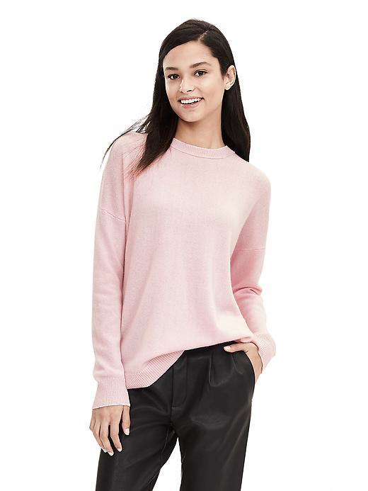Todd & Duncan Cashmere Pullover Cherry Blossom Pink - pattern: plain; style: standard; predominant colour: blush; occasions: casual, creative work; length: standard; fit: loose; neckline: crew; fibres: cashmere - 100%; sleeve length: long sleeve; sleeve style: standard; texture group: knits/crochet; pattern type: fabric; season: a/w 2015; wardrobe: investment