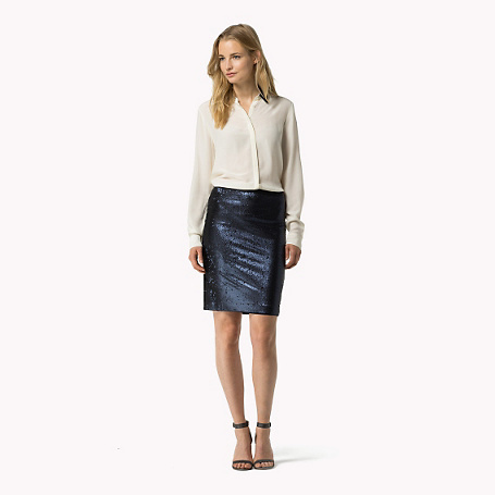Caitrin Skirt - pattern: plain; style: pencil; fit: tailored/fitted; waist: high rise; predominant colour: navy; occasions: evening; length: just above the knee; texture group: jersey - clingy; pattern type: fabric; season: a/w 2015; wardrobe: event