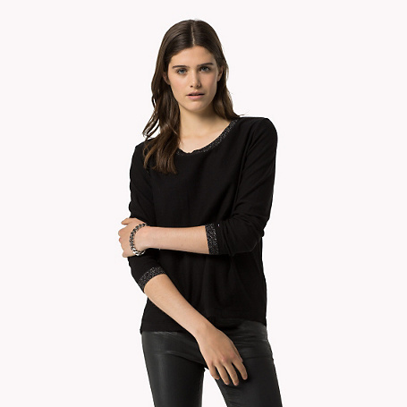 Marin Sweater - neckline: round neck; pattern: plain; style: standard; predominant colour: black; occasions: casual; length: standard; fibres: cotton - 100%; fit: standard fit; sleeve length: long sleeve; sleeve style: standard; texture group: knits/crochet; pattern type: fabric; season: a/w 2015; wardrobe: basic