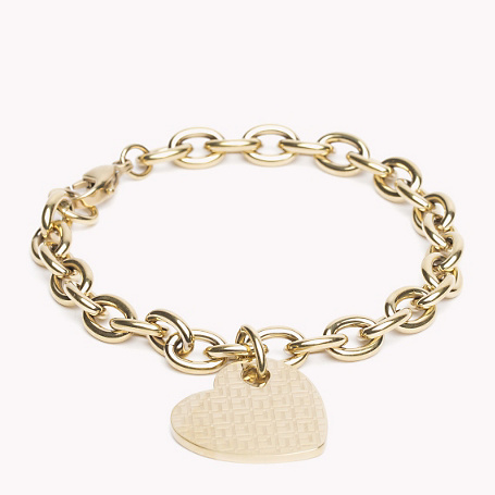 Bracelet - predominant colour: gold; occasions: casual; style: chain; size: standard; material: chain/metal; finish: metallic; embellishment: chain/metal; season: a/w 2015; wardrobe: basic