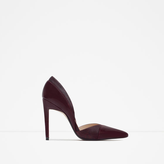 High Heel D'orsay Shoes - predominant colour: black; occasions: evening, occasion; material: leather; heel: stiletto; toe: pointed toe; style: courts; finish: plain; pattern: plain; heel height: very high; season: a/w 2015