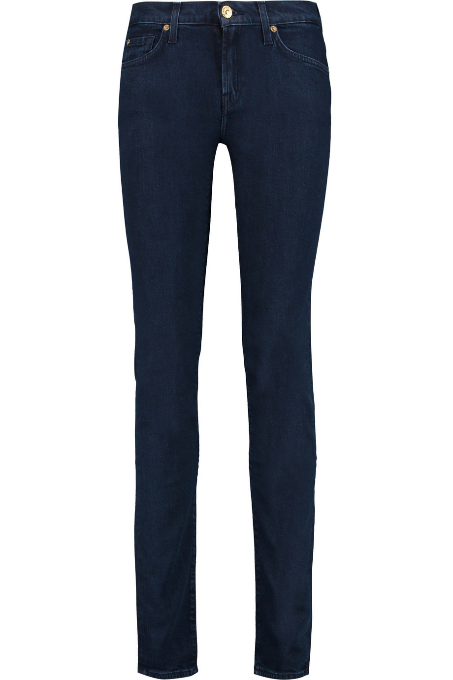 Roxanne Mid Rise Slim Leg Jeans Dark Denim - style: skinny leg; length: standard; pattern: plain; pocket detail: traditional 5 pocket; waist: mid/regular rise; predominant colour: navy; occasions: casual, creative work; fibres: cotton - stretch; jeans detail: dark wash; texture group: denim; pattern type: fabric; season: a/w 2015