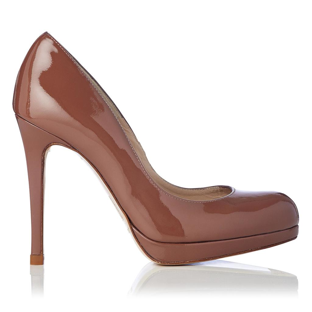 Sledge Winter Rose Patent Platform Courts Neutral Winter Rose - predominant colour: pink; occasions: evening, occasion; material: leather; heel: stiletto; toe: round toe; style: courts; finish: patent; pattern: plain; heel height: very high; shoe detail: platform; season: a/w 2015; trends: pink aw 15; wardrobe: event
