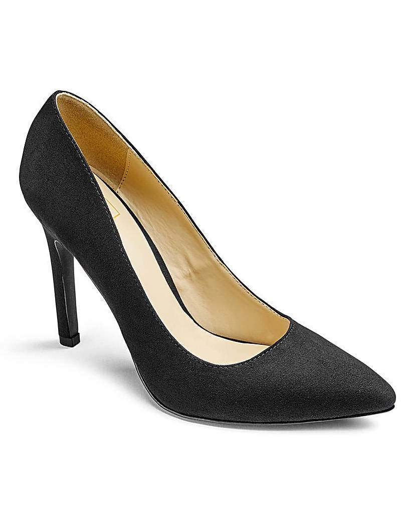 Sole Diva High Court Shoes D Fit - predominant colour: black; occasions: evening, occasion; material: faux leather; heel height: high; heel: stiletto; toe: pointed toe; style: courts; finish: plain; pattern: plain; season: a/w 2015; wardrobe: event