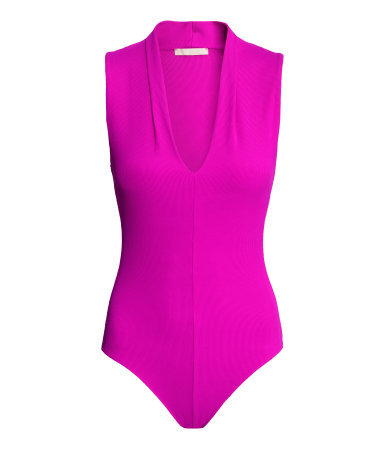 V Neck Body - neckline: low v-neck; pattern: plain; sleeve style: sleeveless; predominant colour: hot pink; occasions: evening; length: standard; fibres: polyester/polyamide - stretch; fit: tight; sleeve length: sleeveless; texture group: jersey - clingy; pattern type: fabric; style: bodysuit; season: a/w 2015; wardrobe: event