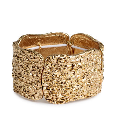 Metal Bracelet - predominant colour: gold; occasions: evening, occasion; style: cuff; size: large/oversized; material: chain/metal; finish: metallic; season: a/w 2015; wardrobe: event
