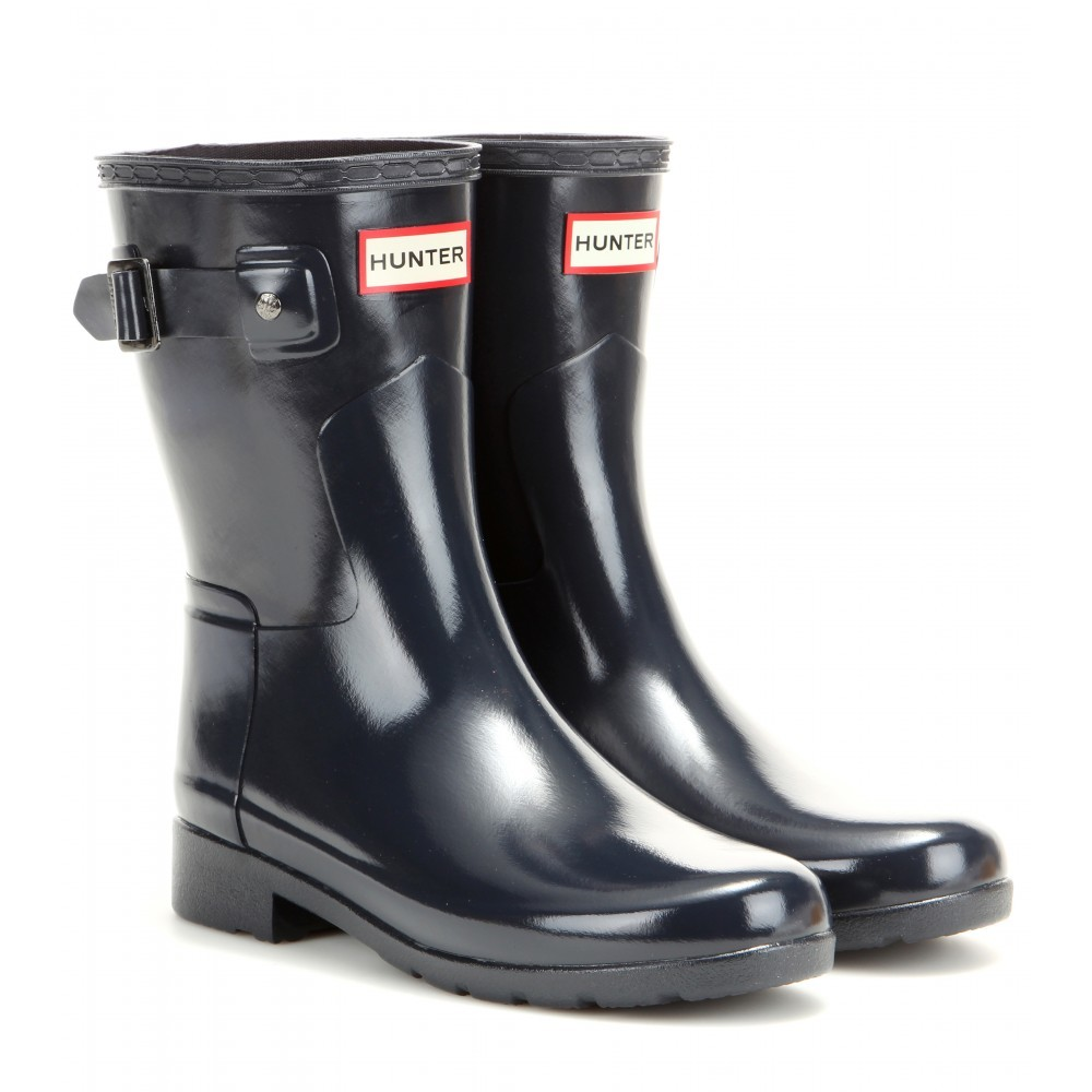 Original Refined Wellington Boots - predominant colour: black; occasions: casual; material: plastic/rubber; heel height: flat; heel: block; toe: round toe; boot length: mid calf; style: wellies; finish: plain; pattern: plain; season: a/w 2015; wardrobe: highlight