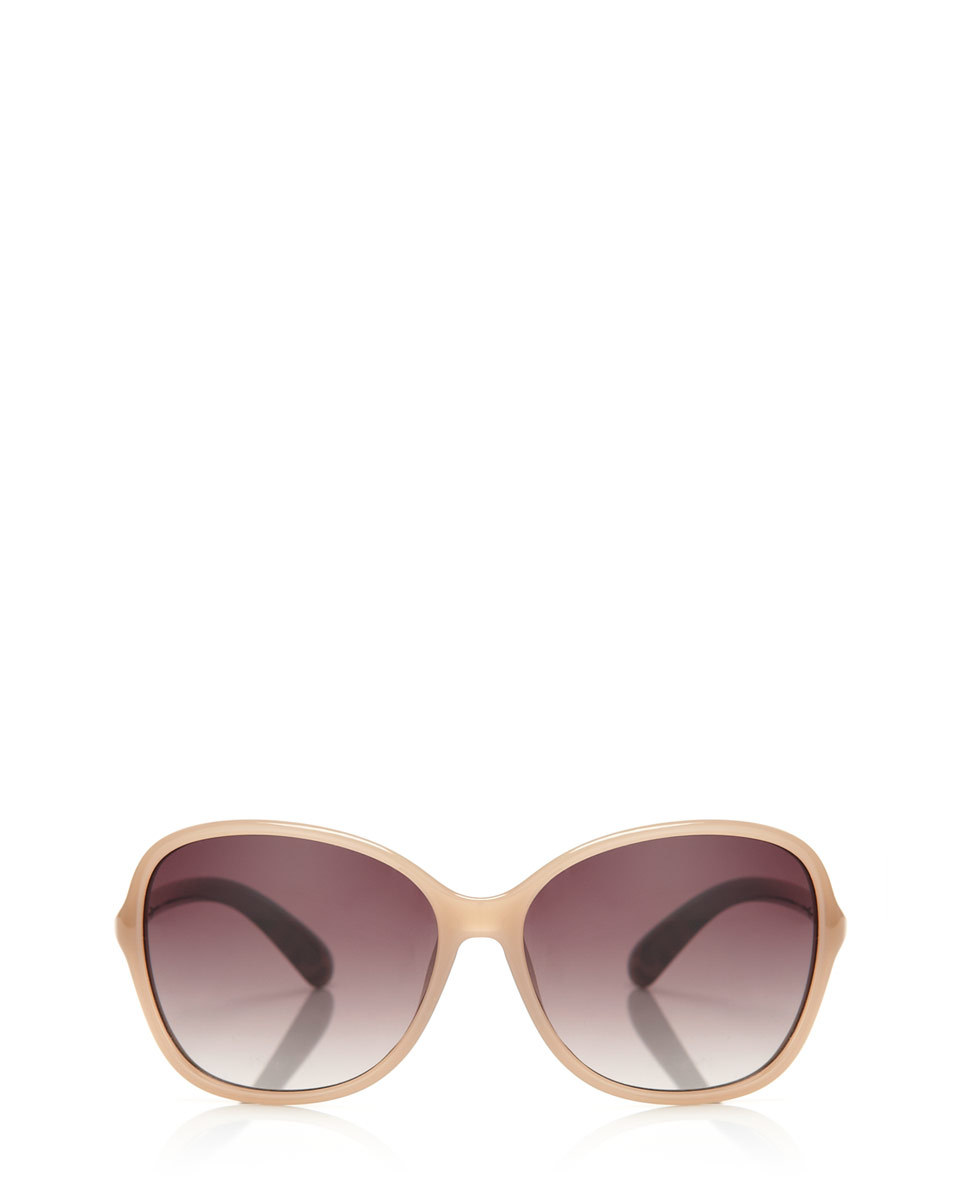 Isabella Sunglasses - predominant colour: nude; occasions: casual, holiday; style: square; size: large; material: plastic/rubber; pattern: plain; finish: plain; season: a/w 2015; wardrobe: basic