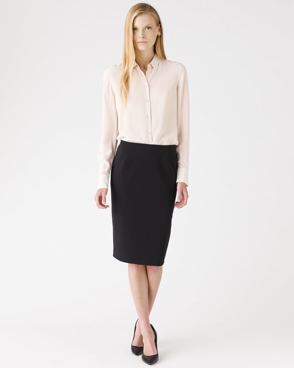 Paris Tailoring Skirt - length: below the knee; pattern: plain; style: pencil; fit: tailored/fitted; waist: mid/regular rise; predominant colour: black; occasions: evening, work; pattern type: fabric; texture group: woven light midweight; season: a/w 2015; wardrobe: basic