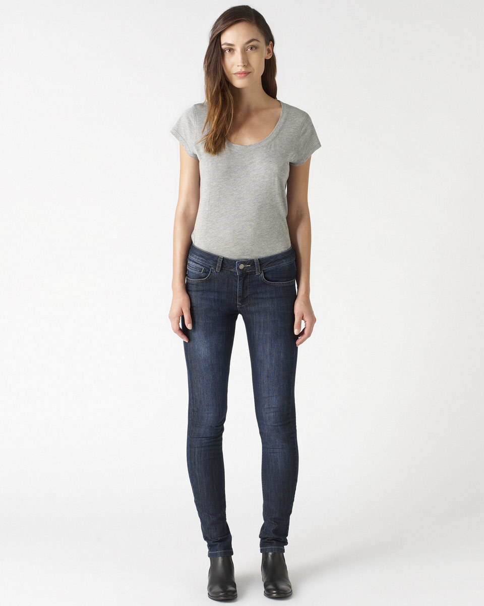 32 Inch Richmond Indigo Skinny Jeans - style: skinny leg; length: standard; pattern: plain; waist: low rise; pocket detail: traditional 5 pocket; predominant colour: navy; occasions: casual; fibres: cotton - stretch; texture group: cotton feel fabrics; pattern type: fabric; season: a/w 2015; wardrobe: highlight
