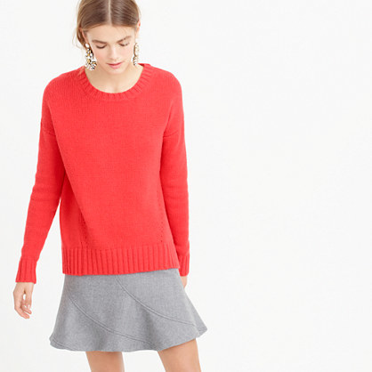 Petite Tunic Sweater - pattern: plain; style: standard; predominant colour: coral; occasions: casual; length: standard; fibres: wool - mix; fit: standard fit; neckline: crew; sleeve length: long sleeve; sleeve style: standard; texture group: knits/crochet; pattern type: knitted - other; season: a/w 2015; wardrobe: highlight