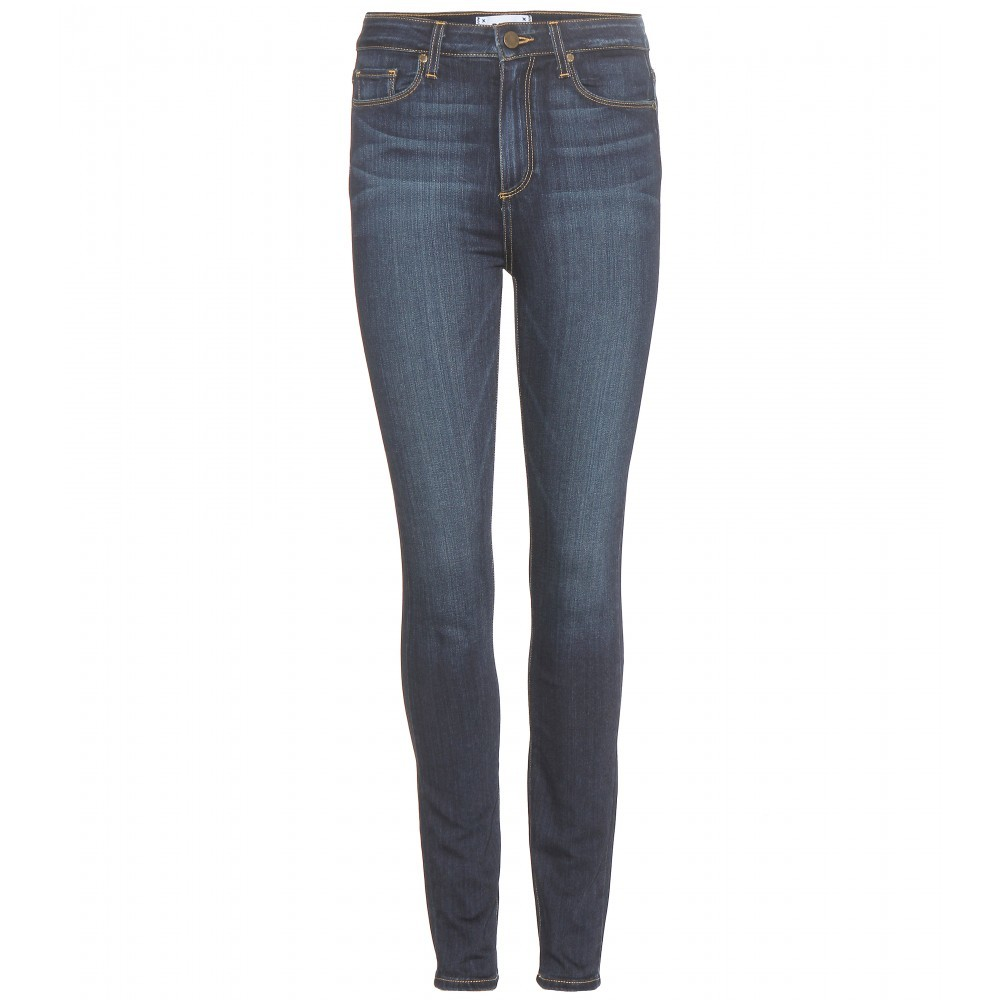 Margot Super High Rise Ultra Skinny Jeans - style: skinny leg; length: standard; pattern: plain; waist: high rise; pocket detail: traditional 5 pocket; predominant colour: navy; occasions: casual; fibres: cotton - stretch; jeans detail: whiskering; texture group: denim; pattern type: fabric; season: a/w 2015; wardrobe: basic