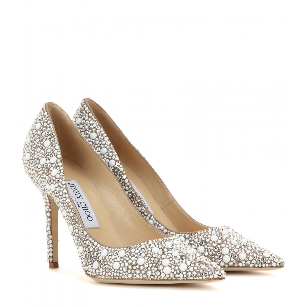 Abel Embellished Suede Pumps - secondary colour: white; predominant colour: silver; occasions: evening, occasion; material: suede; heel height: high; embellishment: crystals/glass; heel: stiletto; toe: pointed toe; style: courts; finish: metallic; pattern: patterned/print; season: a/w 2015; wardrobe: event