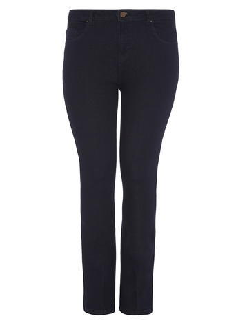 Womens **Dp Curve Indigo Flared Jeans Indigo - style: flares; length: standard; pattern: plain; pocket detail: traditional 5 pocket; waist: mid/regular rise; predominant colour: navy; occasions: casual; fibres: cotton - stretch; jeans detail: dark wash; texture group: denim; pattern type: fabric; season: a/w 2015; wardrobe: basic