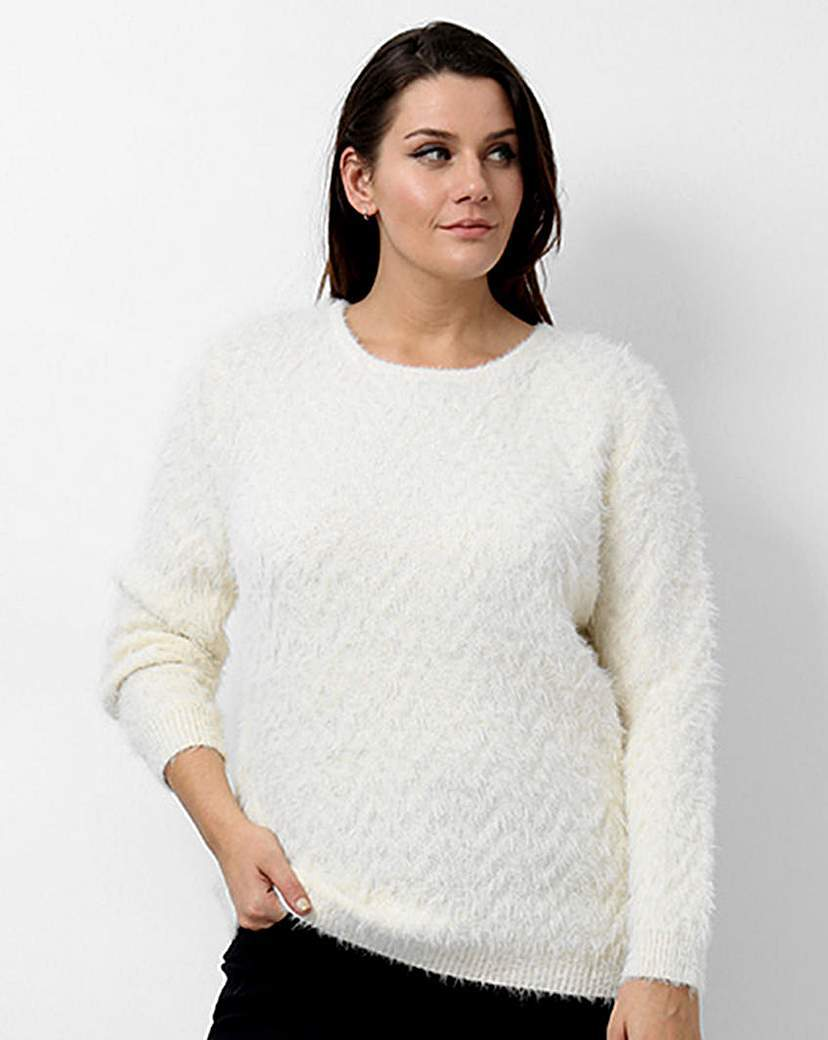 Koko Round Neck Jumper - neckline: round neck; pattern: plain; style: standard; predominant colour: ivory/cream; occasions: casual, creative work; length: standard; fit: standard fit; sleeve length: long sleeve; sleeve style: standard; texture group: knits/crochet; pattern type: knitted - other; season: a/w 2015; wardrobe: basic