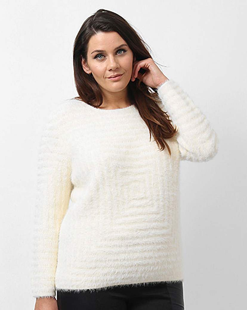 Koko Textured Jumper - neckline: round neck; pattern: plain; style: standard; predominant colour: ivory/cream; occasions: casual, creative work; length: standard; fibres: cotton - mix; fit: standard fit; sleeve length: long sleeve; sleeve style: standard; texture group: knits/crochet; pattern type: knitted - other; season: a/w 2015