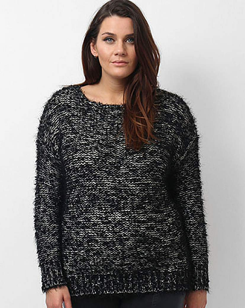Koko Marl Jumper - neckline: round neck; pattern: plain; style: standard; predominant colour: black; occasions: casual, creative work; length: standard; fit: standard fit; sleeve length: long sleeve; sleeve style: standard; texture group: knits/crochet; pattern type: knitted - fine stitch; season: a/w 2015; wardrobe: basic