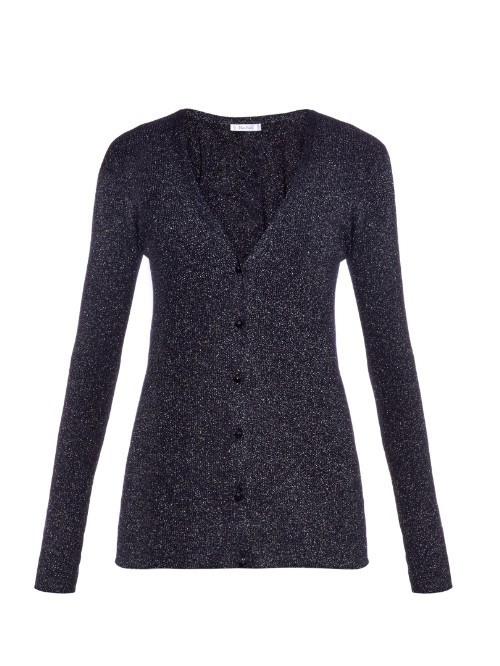 Radio Cardigan - neckline: low v-neck; pattern: plain; predominant colour: navy; occasions: casual, creative work; length: standard; style: standard; fibres: wool - mix; fit: standard fit; sleeve length: long sleeve; sleeve style: standard; texture group: knits/crochet; pattern type: knitted - fine stitch; season: a/w 2015