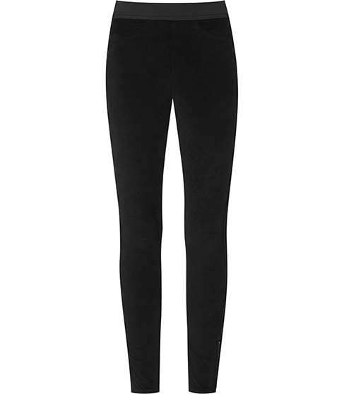 Vixen Velvet Leggings - length: standard; pattern: plain; style: leggings; waist detail: elasticated waist; waist: mid/regular rise; predominant colour: black; occasions: casual, evening; fibres: polyester/polyamide - stretch; fit: skinny/tight leg; pattern type: fabric; texture group: velvet/fabrics with pile; season: a/w 2015; trends: romantic goth; wardrobe: highlight