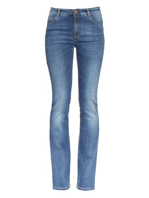 Zeda Jeans - style: skinny leg; length: standard; pattern: plain; waist: high rise; predominant colour: denim; occasions: casual, creative work; fibres: cotton - stretch; jeans detail: whiskering, shading down centre of thigh; texture group: denim; pattern type: fabric; season: a/w 2015