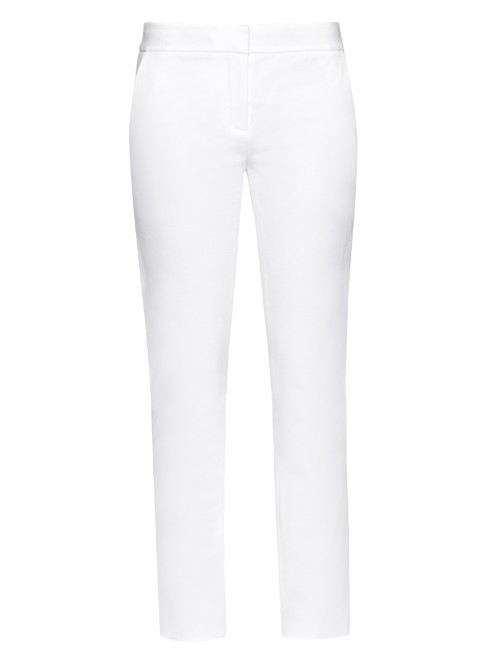 Genesis Trousers - length: standard; pattern: plain; pocket detail: pockets at the sides; waist: mid/regular rise; predominant colour: white; occasions: casual; fibres: viscose/rayon - stretch; texture group: cotton feel fabrics; fit: slim leg; pattern type: fabric; style: standard; season: a/w 2015; wardrobe: basic