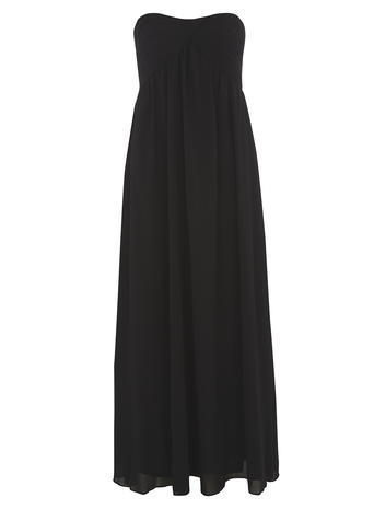 Womens *Alice & You Ruched Bandeau Maxi Dress Black - neckline: strapless (straight/sweetheart); pattern: plain; style: maxi dress; sleeve style: strapless; predominant colour: black; occasions: evening, occasion; length: floor length; fit: fitted at waist & bust; fibres: polyester/polyamide - 100%; hip detail: subtle/flattering hip detail; sleeve length: sleeveless; pattern type: fabric; texture group: other - light to midweight; season: a/w 2015; wardrobe: event