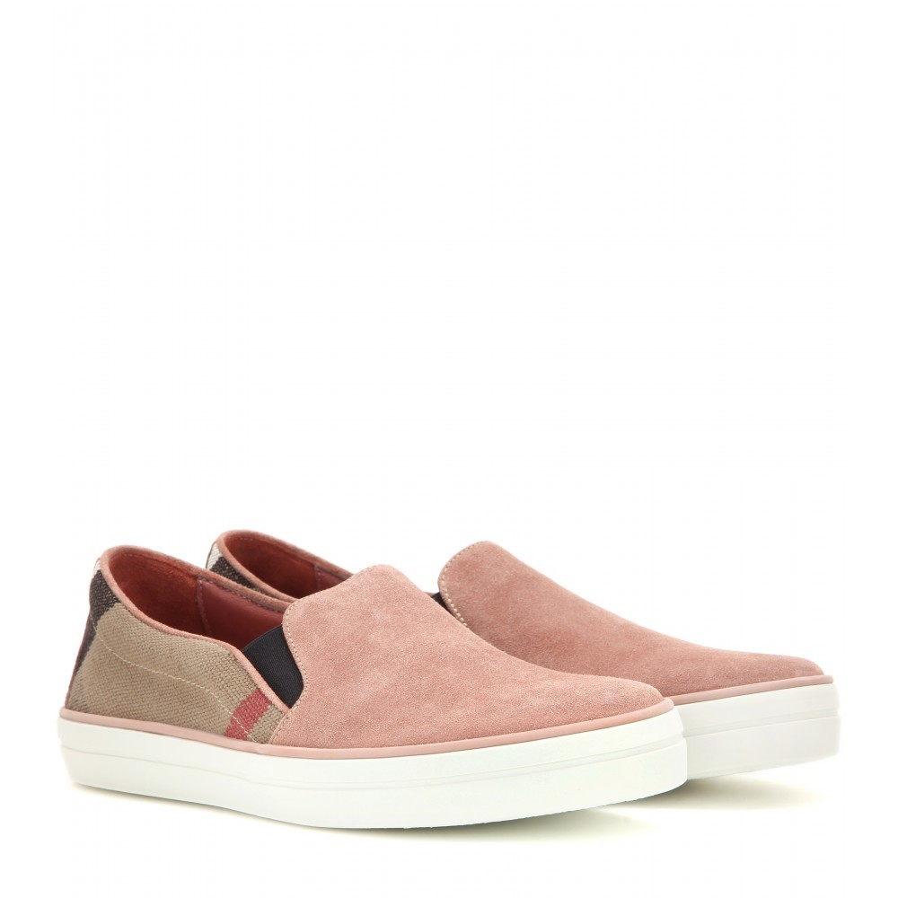 Gauden Slip On Sneakers - predominant colour: pink; occasions: casual, creative work; material: suede; heel height: flat; toe: round toe; finish: plain; pattern: plain; shoe detail: moulded soul; style: skate shoes; season: a/w 2015; wardrobe: highlight