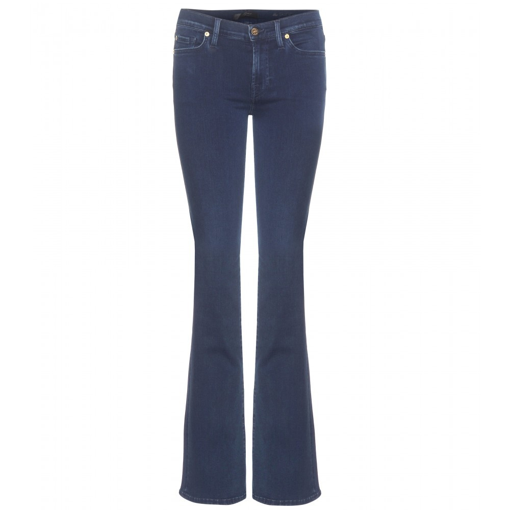 The Skinny Bootcut Jeans - style: flares; length: standard; pattern: plain; waist: mid/regular rise; predominant colour: denim; occasions: casual, creative work; fibres: cotton - stretch; texture group: denim; pattern type: fabric; season: a/w 2015; wardrobe: basic