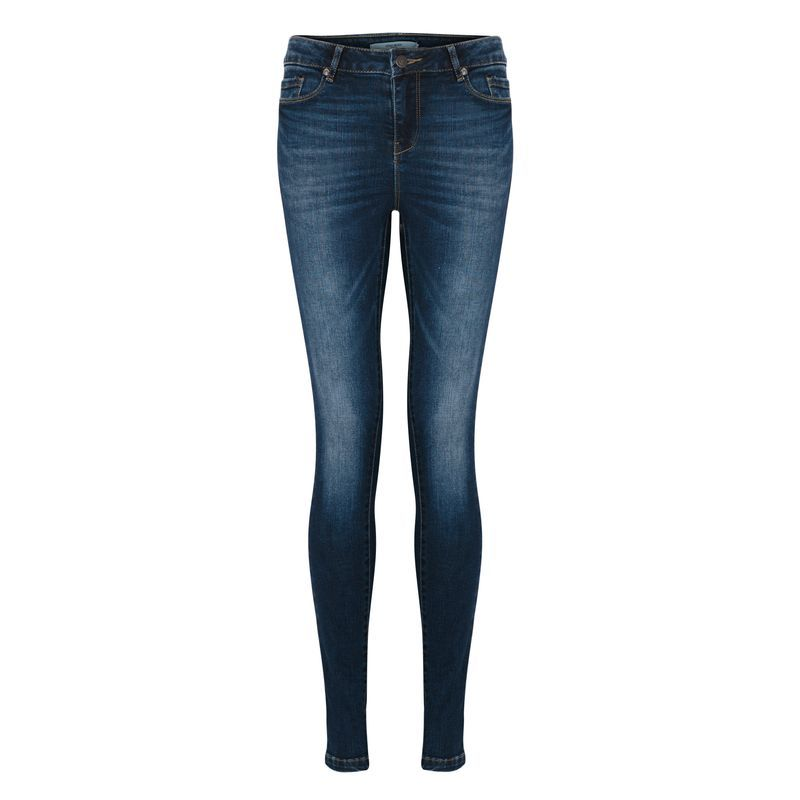 Denim Super Slim Jeans, Size Xxl - style: skinny leg; length: standard; pattern: plain; pocket detail: traditional 5 pocket; waist: mid/regular rise; predominant colour: navy; occasions: casual; fibres: cotton - stretch; jeans detail: whiskering, shading down centre of thigh; texture group: denim; pattern type: fabric; season: a/w 2015; wardrobe: basic
