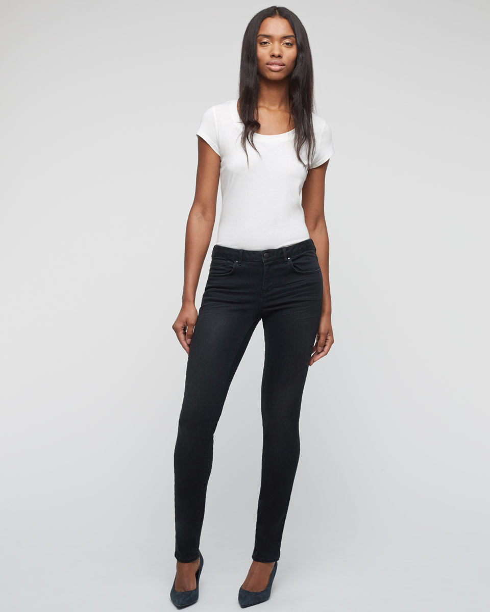 32 Inch Richmond Black Skinny Jeans - style: skinny leg; length: standard; pattern: plain; waist: high rise; pocket detail: traditional 5 pocket; predominant colour: black; occasions: casual; fibres: cotton - stretch; texture group: denim; pattern type: fabric; season: a/w 2015