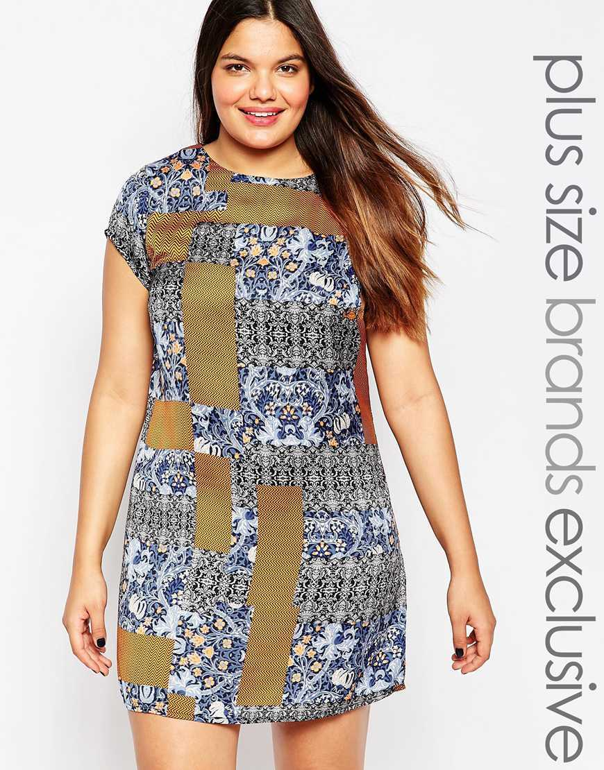 Floral Patchwork Shift Dress Multi - style: shift; length: mini; sleeve style: capped; predominant colour: khaki; occasions: evening; fit: body skimming; fibres: polyester/polyamide - stretch; neckline: crew; sleeve length: short sleeve; texture group: jersey - clingy; pattern type: fabric; pattern: patterned/print; season: a/w 2015