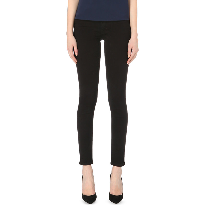 Rebound Skinny Jeans, Women's, Black - style: skinny leg; length: standard; pattern: plain; pocket detail: traditional 5 pocket; waist: mid/regular rise; predominant colour: black; occasions: casual; fibres: cotton - stretch; texture group: denim; pattern type: fabric; season: a/w 2015