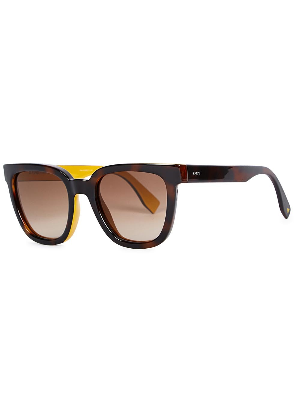 Tortoiseshell Wayfarer Style Sunglasses - predominant colour: black; occasions: casual, holiday; style: d frame; size: standard; material: plastic/rubber; pattern: plain; finish: plain; season: a/w 2015; wardrobe: basic