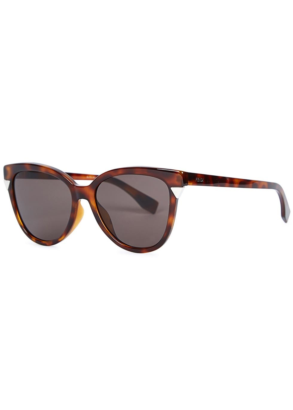 Tortoiseshell Wayfarer Style Sunglasses - predominant colour: chocolate brown; secondary colour: camel; occasions: casual, holiday; style: d frame; size: large; material: plastic/rubber; pattern: tortoiseshell; finish: plain; season: a/w 2015; wardrobe: basic