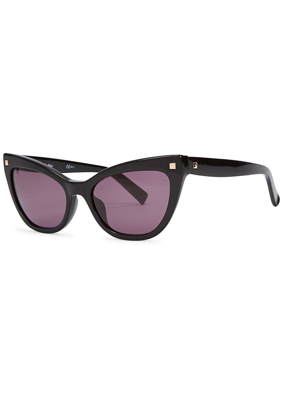 Black Cat Eye Sunglasses - predominant colour: black; occasions: casual, holiday; style: cateye; size: standard; material: plastic/rubber; pattern: plain; finish: plain; season: a/w 2015; wardrobe: basic