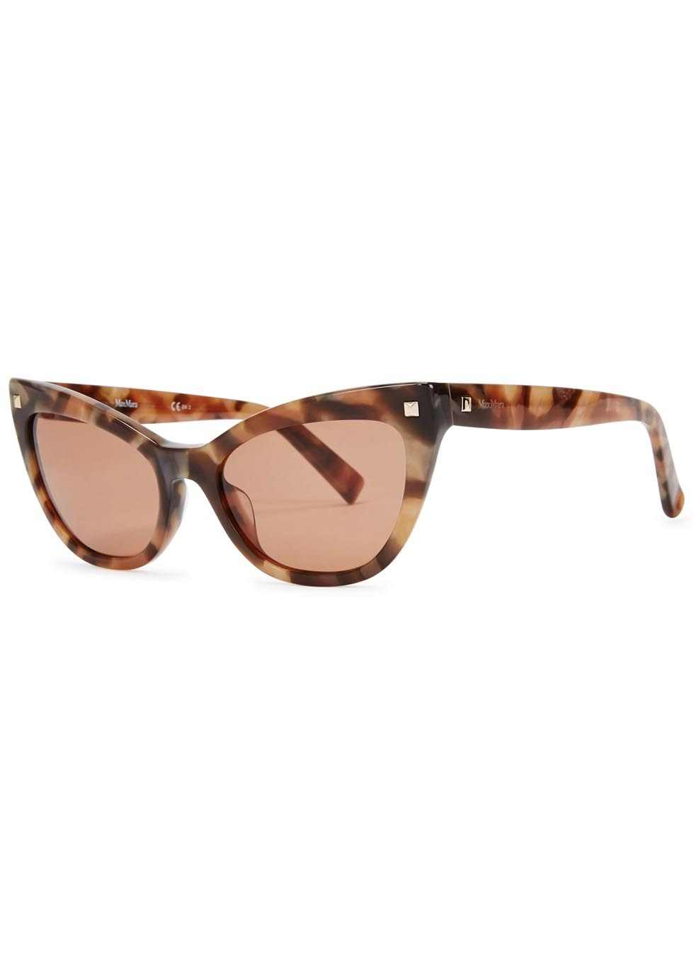 Tortoiseshell Cat Eye Sunglasses - predominant colour: tan; occasions: casual, holiday; style: cateye; size: standard; material: plastic/rubber; pattern: tortoiseshell; finish: plain; season: a/w 2015; wardrobe: highlight