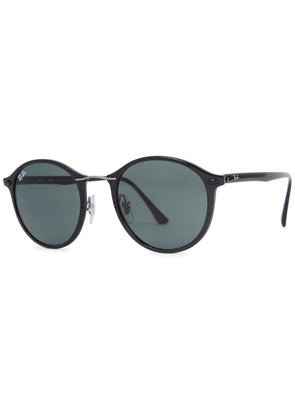 Black Round Frame Sunglasses - predominant colour: black; occasions: casual, holiday; style: round; size: standard; material: plastic/rubber; pattern: plain; finish: plain; season: a/w 2015; wardrobe: basic