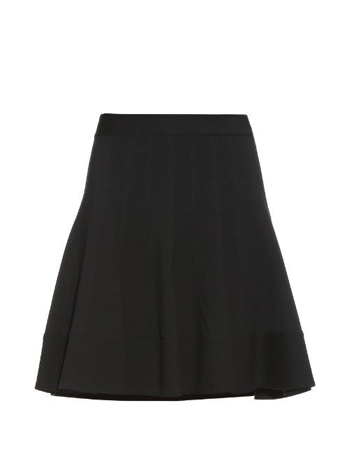 Tippy Skirt - length: mid thigh; pattern: plain; style: full/prom skirt; fit: loose/voluminous; waist: mid/regular rise; predominant colour: black; occasions: casual, creative work; fibres: viscose/rayon - stretch; waist detail: feature waist detail; pattern type: fabric; texture group: jersey - stretchy/drapey; season: a/w 2015; wardrobe: basic