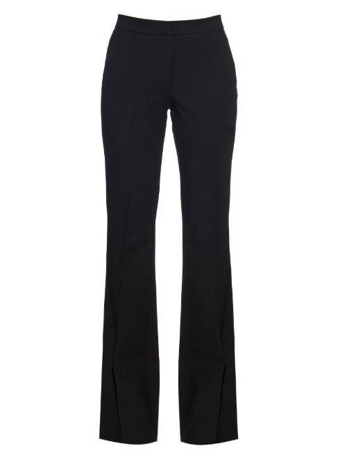 Anson Flared Trousers - length: standard; pattern: plain; waist: high rise; predominant colour: black; fit: flares; pattern type: fabric; texture group: other - light to midweight; style: standard; occasions: creative work; season: a/w 2015