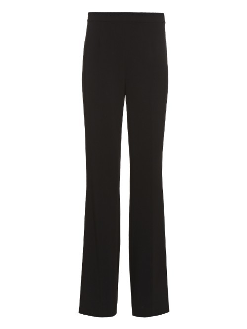 Joan Trousers - length: standard; pattern: plain; waist: high rise; predominant colour: black; occasions: work, creative work; fibres: polyester/polyamide - mix; fit: straight leg; pattern type: fabric; texture group: other - light to midweight; style: standard; season: a/w 2015; wardrobe: basic