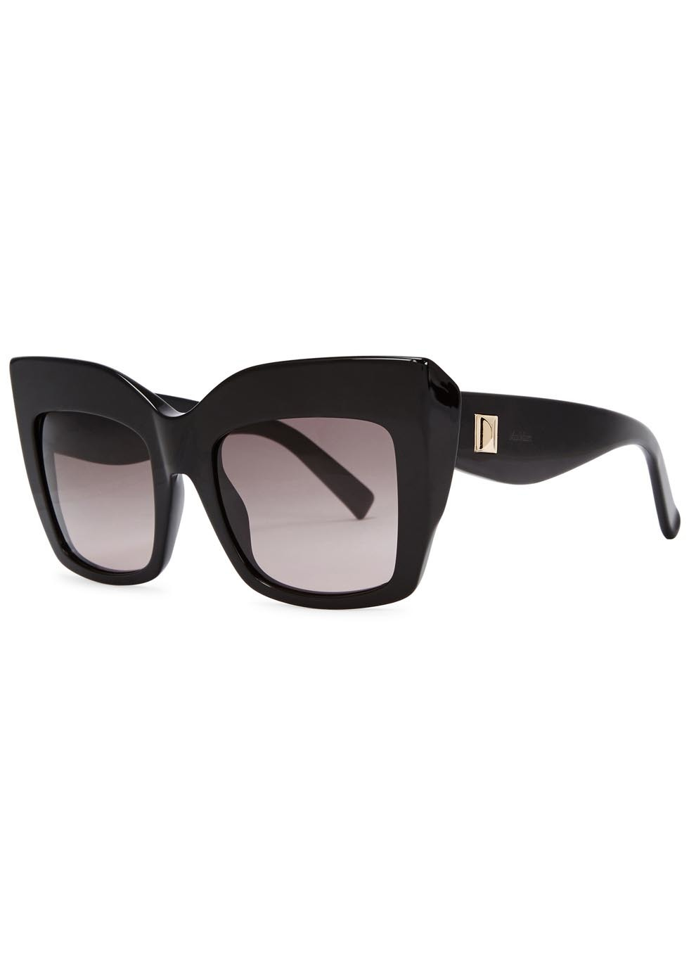 Black Square Frame Sunglasses - predominant colour: black; occasions: casual, holiday; style: square; size: large; material: plastic/rubber; pattern: plain; finish: plain; season: a/w 2015; wardrobe: basic