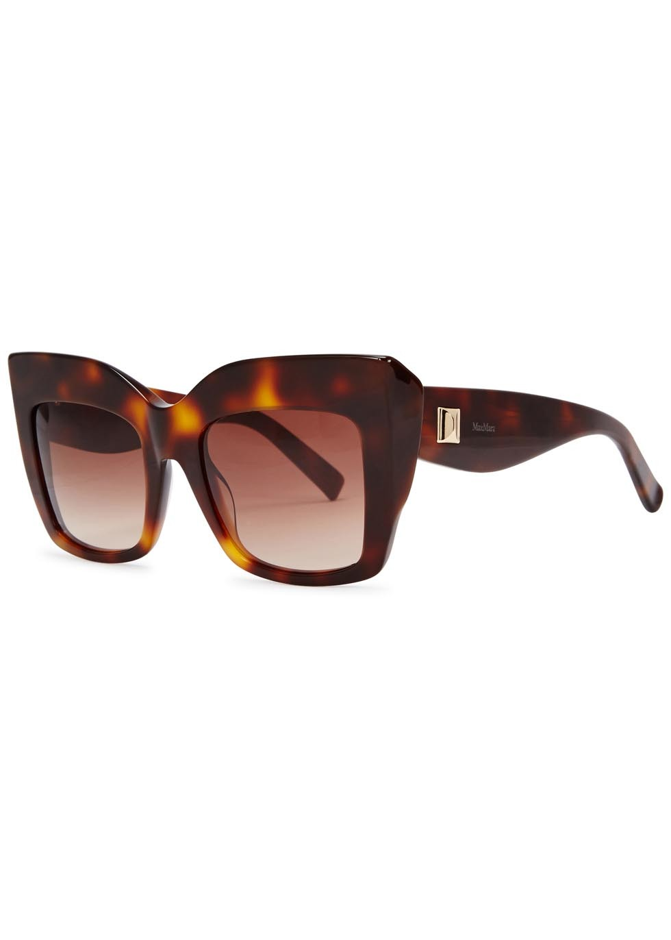 Tortoiseshell Square Frame Sunglasses - predominant colour: chocolate brown; occasions: casual, holiday; style: square; size: large; material: plastic/rubber; pattern: tortoiseshell; finish: plain; season: a/w 2015; wardrobe: basic