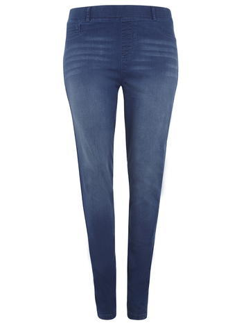 Womens **Dp Curve 70's Blue Jeggings Blue - length: standard; pattern: plain; style: jeggings; waist: mid/regular rise; predominant colour: denim; occasions: casual; fibres: cotton - stretch; texture group: denim; pattern type: fabric; season: a/w 2015