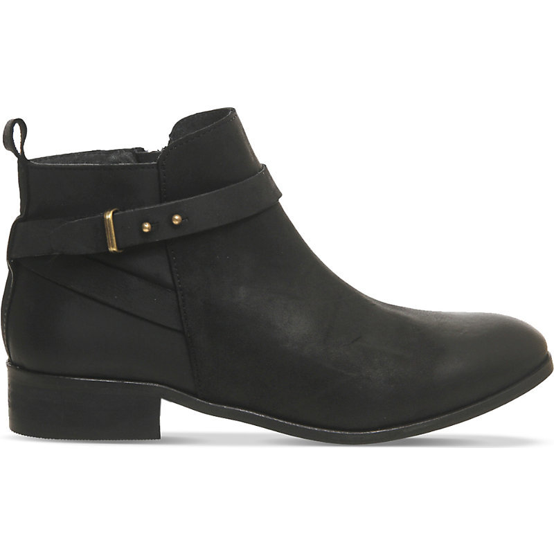Instinct Leather Ankle Boots, Women's, Eur 38 / 5 Uk Women, Black Leather - predominant colour: black; occasions: casual, creative work; material: leather; heel height: flat; heel: standard; toe: round toe; boot length: ankle boot; style: standard; finish: plain; pattern: plain; season: a/w 2015
